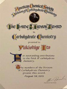 American Chemical Society Claude S. Hudson Award